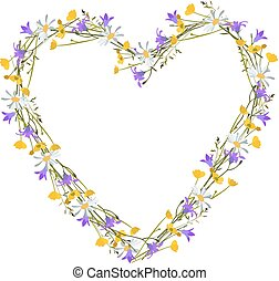 Flowers  wild at heart, isolated vector