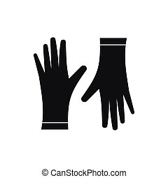 Protective gloves icon, simple style - Protective gloves...