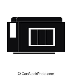 Inkjet printer cartridge icon, simple style