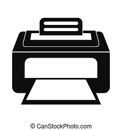 Modern laser printer icon, simple style - Modern laser...