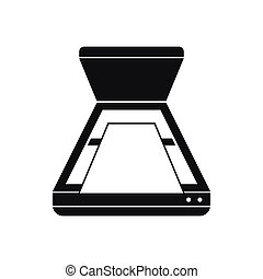Open scanner icon, simple style - Open scanner icon in...