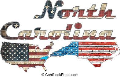 USA state of North Carolina
