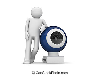 Tech collection - Webcamera - 3d characters isolated on...