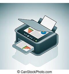 pequeño, oficina, /, hogar, Chorro de tinta,...