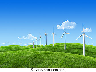 7000px nature collection - Wind power station - Remarkable...