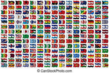 World Flags Set - 210 Flags of the World - every flag has...