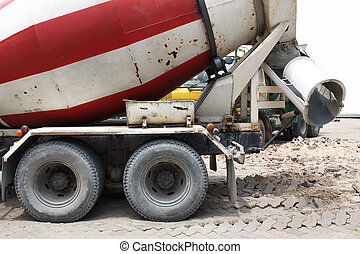 Cement mixer truck transport