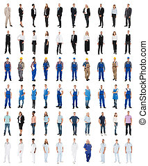 Set Of People With Various Occupations