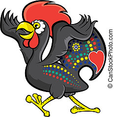 Barcelos rooster illustration
