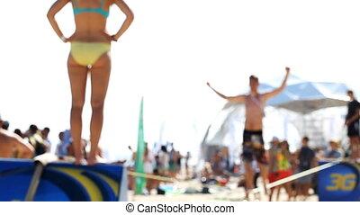Slacklining, sports, active, lifestyle, leisure -...