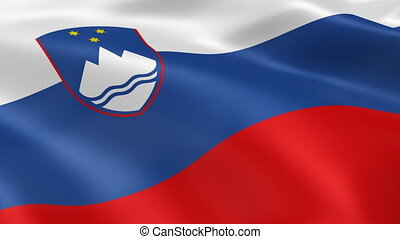 Slovenian flag in the wind Part of a series