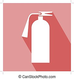 Fire Extinguisher Icon Fire Extinguisher Icon with Long...