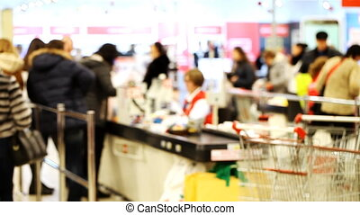 people in the supermarket,  trade, score , shop