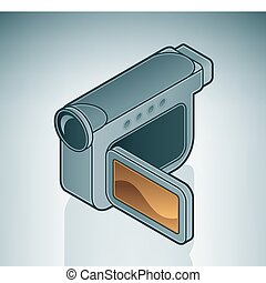 Digital Camera is a part of the Isometric 3D Computer...