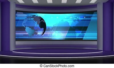 News TV Studio Set -72 - News TV Studio Set 72 - Virtual...