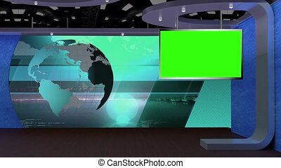 News TV Studio Set -70 - News TV Studio Set 70 - Virtual...