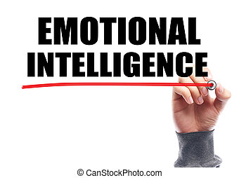 Emotional Intelligence Concept - Hand drawing the red line...