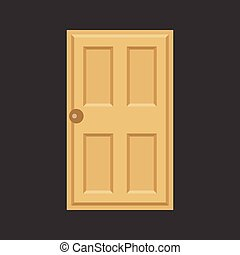 Vector door,flat design,no gradient