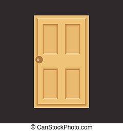 Vector door,flat design,no gradient
