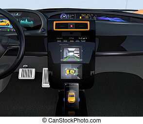 EV automatic parking system GUI