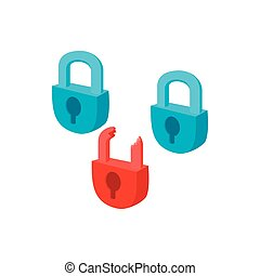 Symbol of internet security with padlocks icon