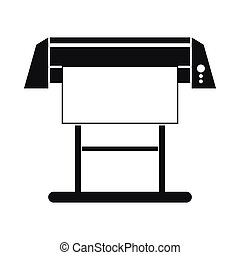 Large format inkjet printer icon, simple style - Large...