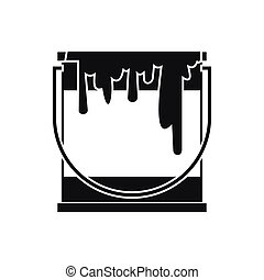 Paint can icon, simple style - Paint can icon in simple...