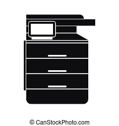 Multipurpose device, fax, copier and scanner icon in simple...