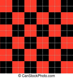 Red Black White Chess Board Background