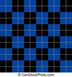 Blue Black White Chess Board Background
