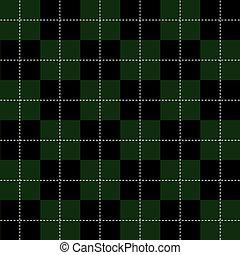 Green Black White Chess Board Background