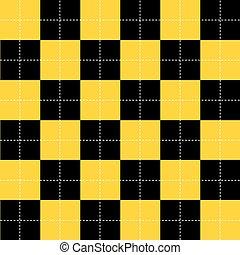 Yellow Black White Chess Board Background