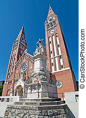 Votive church in Szeged, Hungary - Votive Church of Our Lady...