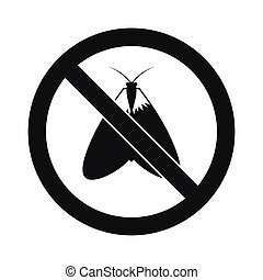 No moth sign icon, simple style - No moth sign icon in...