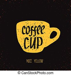 hot yellow cup