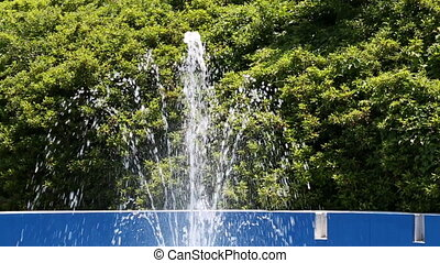 fountain water - motion fountain water in the garden
