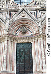 Siena Cathedral, Siena, Tuscany, italy - Details of one of...