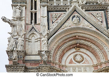 Siena Cathedral, Siena, Tuscany, italy - Details of the...