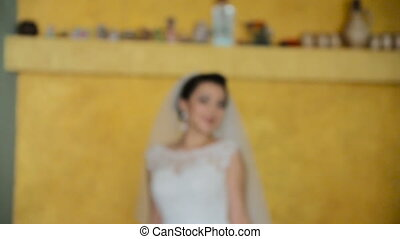 Beautiful bride posing for the camera