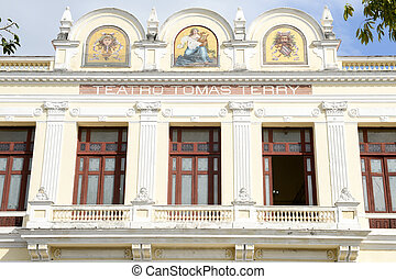 Theater Tomas Terry building in Cienfuegos. The old town is...