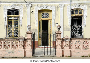 Colonial architecture at the old town of Cienfuegos, Cuba