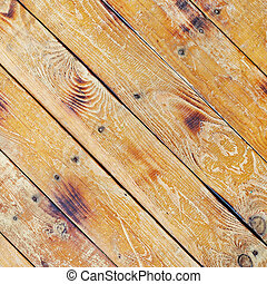 Diagonal square texture of wooden planks - Diagonal square...