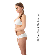 Slim tanned woman\'s body