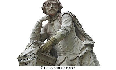 Shakespeare statue - Statue of William Shakespeare (year...