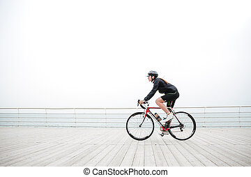 Woman riding on a bicycle