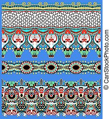 seamless geometry vintage pattern, ethnic style ornamental...