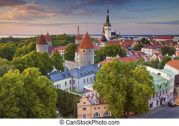 Tallinn. - Image of Old Town Tallinn in Estonia during...