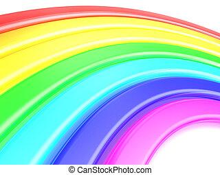 raibow background - 3d illustration of rainbow background