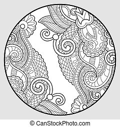 coloring book page for adults - zendala, joy to older children a