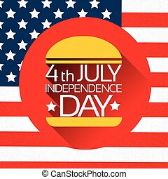 Independence Day United States American Holiday Burger With...
